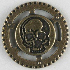 Dill–Botones de Metal Steam Punk Calavera, 23mm, latón...