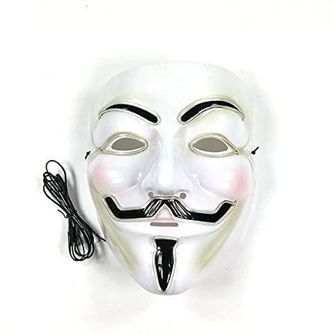 Domino Noir Adulte - v pour vendetta conduit masque masque de