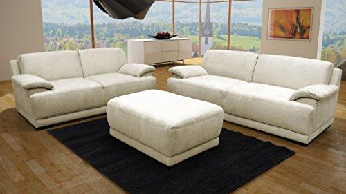 ALESSANDRIA Boxspringsofa 2-Sitzer 3-Sitzer Garnitur Sofa Couch Creme