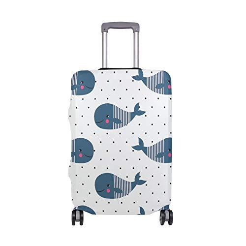 hülle mit süßem Cartoon-Wal, gepunktet, passend für 45,7-81,3 cm Koffer, Spandex ()