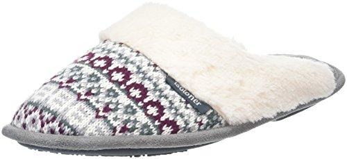 isotonerfairisle-swept-back-pantofole-donna-grigio-grigio-grey-38
