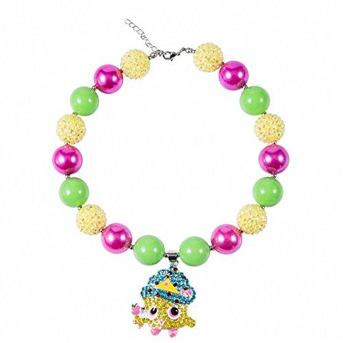 Up Kostüm Zubehör - Das beste Schmuck / Acryl Perlenkette mit niedlicher Kuchen-Muster Kinder Halsketten handgearbeitet,geschenke für klein mädchen (Frontier Kostüm)