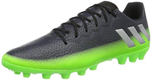 adidas Herren Messi 16.3 AG Fußballschuhe, Grau (Dark Grey/Silver Met./Solar Green), 44 2/3 EU (Rasen Sportartikel)