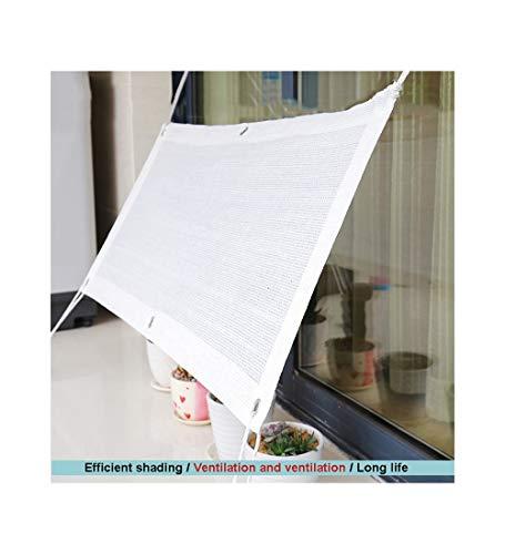 YUDEYU Beschattungsnetz Sonnencreme Isolierung Abkühlen Lassen Verschlüsseln Verdicken (Color : White, Size : 1x2m)