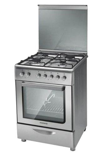 Rosieres RGC6112IN Autonome Cuisinière à gaz Acier inoxydable four et cuisinière - Fours et cuisinières (Cuisinière, Acier inoxydable, Rotatif, Acier inoxydable, Devant, Cuisinière à gaz)