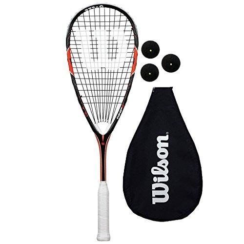 Wilson Whip 155 BLX Squash Schläger + 3 Squash Bälle