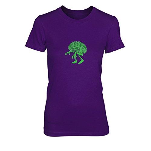 n T-Shirt, Größe: M, Farbe: lila (Professor X Halloween Kostüm)