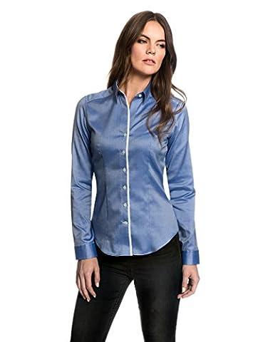 EMBRÆR Women's Blouse Modern Fit Long Sleeve Shirt Oxford Easy Iron Uni,lightblue,10