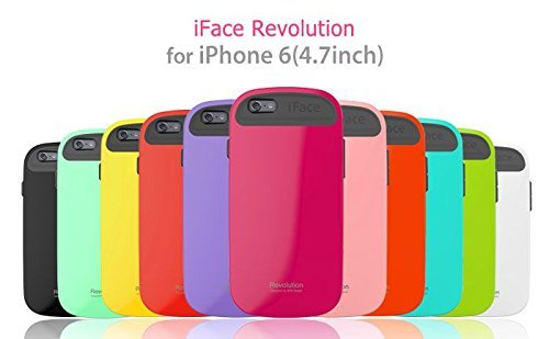 iFace Apple iPhone 6 Case Revolution Collection - Premium Slim Fit Dual Layer Protective Hard Case Apple New iPhone 6 Case 6 2014 Model (4.7 inch)(Hot Pink) Emerald