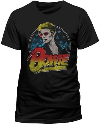 Collectors Mine Herren T-Shirt Bowie,David - Smoking, Gr. 46 (S), Schwarz (Schwarz)