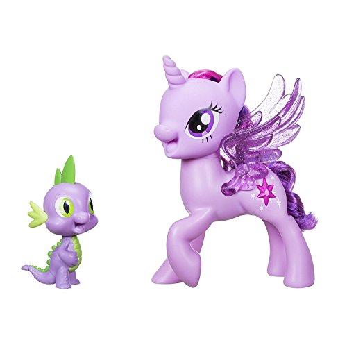My little Pony C0718 – Prinzessin Twilight Sparkle & Spike, der Drache – Singendes Duo (Polish Sprachversion), Mehrfarben