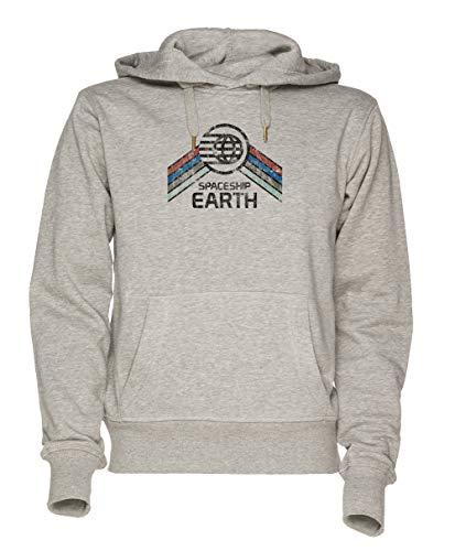 Jergley Vintage Spaceship Earth Unisex Grau Sweatshirt Kapuzenpullover Herren Damen Größe XXL | Hoodie for Men and Women Size XXL -