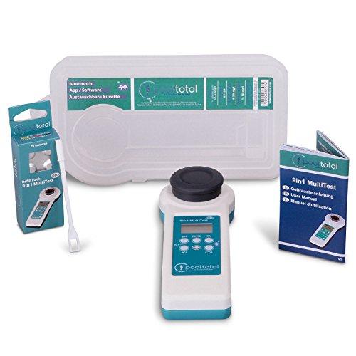 POOL Total 11 in 1 MultiTest PRO Photometer - PoolLAB® 1.0 Elektronischer Wassertester Photometer für Pool und Whirlpool
