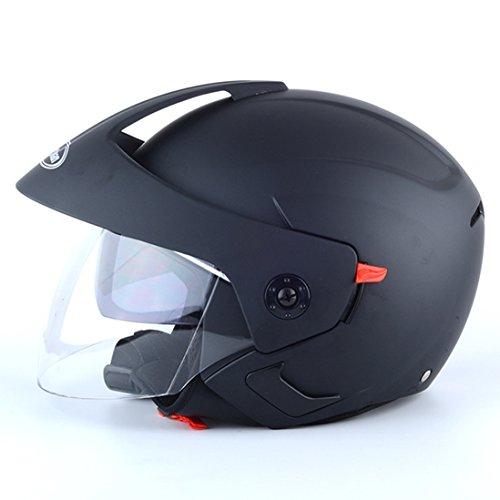 Lidauto moto helmets riders elegante shorty double lens summer per uomo donna,black