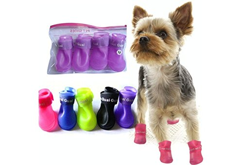 pet-dog-shoes-candy-color-waterproof-booties-rubber-shoes-rain-boots-color-blacksize-l