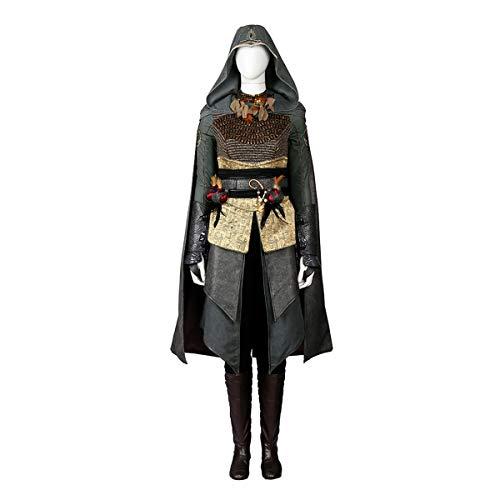 Kostüm Deluxe Womens - QWEASZER Film Spiel Assassin Kostüm Frauen Mantel, Rüstung, Tops, Hosen, Schuhe, Halloween Cosplay Kostüm Requisiten Deluxe Edition,Assassin Women-XXXL