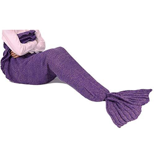 Meerjungfrau Schwanz Decke für Kinder, manuelle gehäkelte Decke, -