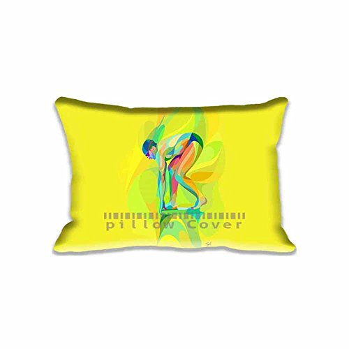 Sports Zippered Sofa Cushion Covers Rio 2016 Olympics Swimming Pillow case/Copricuscini e federe Protectors ; Best Designs of 2016 Summer Olympics Pillow Cover Pattern