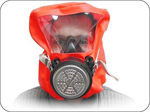 Respiratore di emergenza (escape hood) ABEK1P3per soccorso in caso di intossicazione da prodotti chimici o avaria, protegge da gas nocivi delle classi A, B, E e K e da particelle, fumi, fibre e aerosol di classe P3 secondo DIN 58647-7