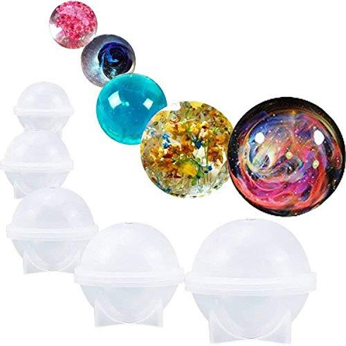 -60mm Runden Ball DIY Silikon Schmuck Basteln Gießform Mold Schmuckgießform Halskette Mould Schmuck Form Silikonform Dekoration ()