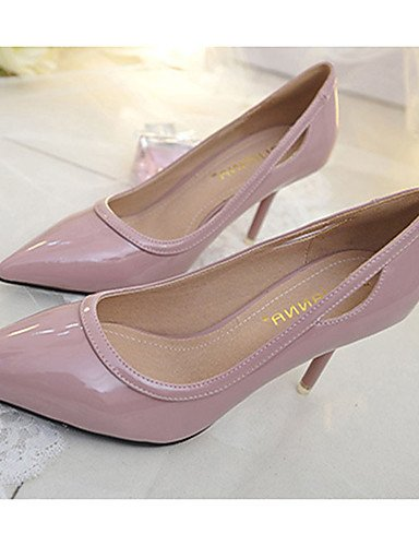 WSS 2016 Chaussures Femme-Décontracté-Noir / Rose / Gris / Multi-couleur-Talon Aiguille-Talons-Talons-Laine synthétique black-us5 / eu35 / uk3 / cn34
