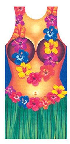 Zauberclown - Party Folien Schürze- Hawaiianisches Hula Hula Girl, (Girl Frauen Kostüm Hula Für)