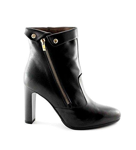 Nero Giardini Black Jardins 16363 Femme Noire Bottes en Cuir Zip Bottines à Talons