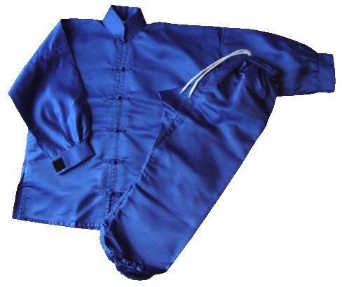 S.B.J - Sportland Kung Fu/Tai Chi Anzug Satin blau, 200 cm - Satin Anzug