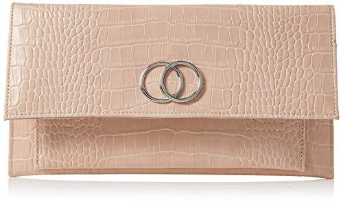 New Look Croc Verity, Pochettes femme, Rose (Light Pink), 5x14x20 cm (W x H L)
