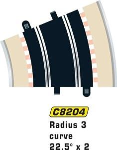 Super Slot 500008204 - CURVA R3 22,5 grados - 2X Rennbahnhzubehör Importado de Alemania