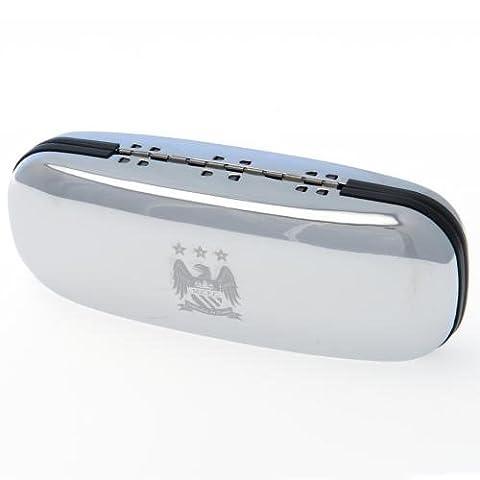 Manchester City FC offizielle Fußball-Brillenschutzhülle, ein tolles Geschenk zu Weihnachten oder Geburtstag, Geschenkidee für Männer und (Manchester Zu Weihnachten)