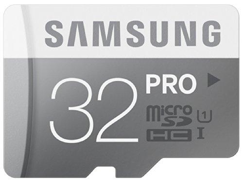 Samsung Speicherkarte MicroSDHC 32GB PRO UHS-I Grade 1 Class 10 (bis zu 90MB/s lesen, bis zu 80MB/s schreiben) mit SD Adapter (Tarjeta De Memoria 32 Gb Pc)
