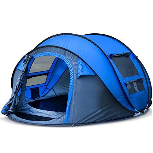 DLLzq Outdoor Automatic Pop-up Instant Tragbares Strandzelt 3-4-Personen-Garten Camping Wasserdicht Und UV-Schutz,Blue