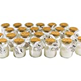 Bestdayever Lot de 24 Mini Pots en Verre Contenant Une Bougie. Idée Cadeau invités Mariage & Accessoire Mariage