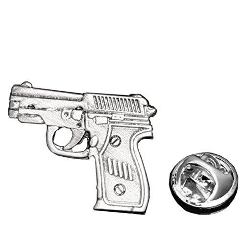 Procuffs Gun Munition Waffe Feuerwaffe Pistole Anstecknadel Tack Krawatte - Munition Gun Schmuck