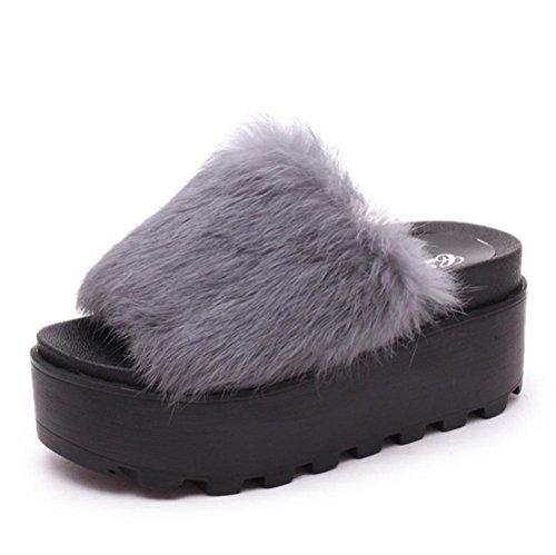 Donna Casual Pantofole interno antiscivolo alta caldo in autunno e inverno pantofole 5