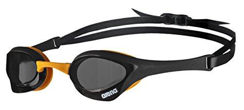 arena Unisex Wettkampf Profi Schwimmbrille Cobra Ultra (UV-Schutz, Anti-Fog Beschichtung, Harte Gläser),Schwarz (Dark Smoke-Black-Orange (50)),Einheitsgröße