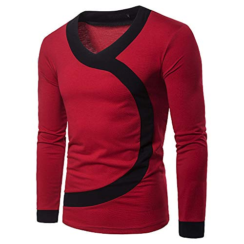 Herren Pullover,TWBB Nähen Mode Oberteile Sweatshirt Poloshirt Lange Ärmel Shirt Blusen Casual