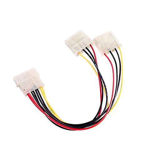 itter-Kabel Fest 1 Stecker auf 2 weibliche Power Splitter Durable 4 Pin Stromversorgung, Line Premium-Plattenmontage Splitter ()
