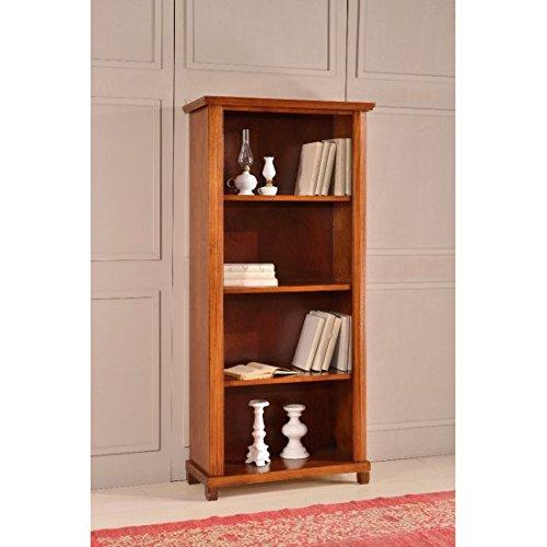 Estense-Bücherregal aus Holz Farbe Walnuss dunkel-L 87P40H 189-476F - Dunkle Walnuss Bücherregal