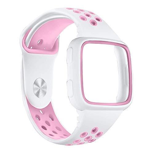 BHYDRY Ersatz-Uhrenarmband-Armband aus weichem Silikon-Sportarmband + Rahmen für Fitbit Versa -