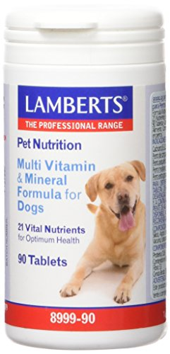 Lamberts Pet Nutrition para Perros, Combinación de Multivitaminas - 90 Tabletas