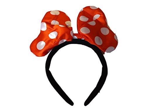 Haarreif Disney Mickey Mouse Minnie Mouse Rot & Silber Haarreif Mit Großer Gepolsterter Schleife Ohren Verkleidung Von Fat-Catz