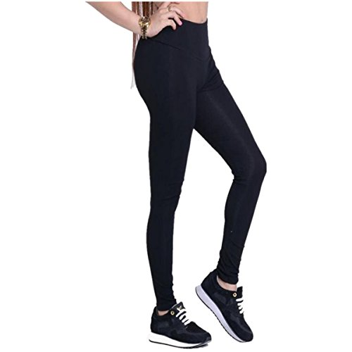 Jeggings Treggings Bleistifthose Stretchhose Damen Mädchen Hose Lang High Waist Skinny Slim Fit Schwarz Yoga Joggingshose Stretch Workout Fitness ()
