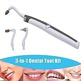 CkeyiN ®Multifunktions LED Dental Tool Kit Mundhygiene und Pflege (Zahnflecken Eraser + Plaqueentferner 3 Heads)