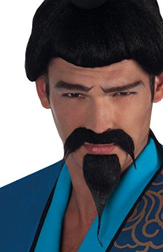 Boland 01800 - Schnurrbart und Bart Samurai, Einheitsgröße, schwarz