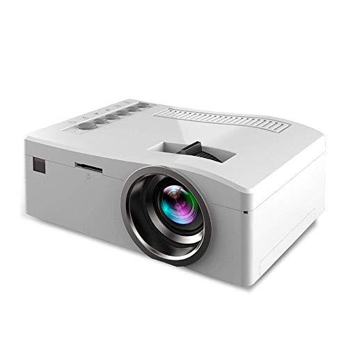 Mini tragbarer Videoprojektor Full HD 1080P LCD LED Heimkino-Projektor Unterstützt USB TV VGA SD AV Ideal für Movie Nights und Videospiele,White 42 1080p Lcd Tv