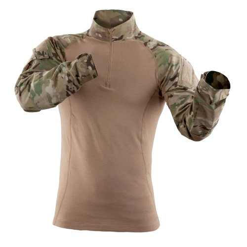 5.11 Herren TDU Rapid Assault Shirt Long Sleeve Medium Multi Camo (Tactical Shirt)