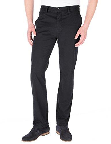 James Tyler - Chino - Pantalones Hombre, Negro, W33/ L32