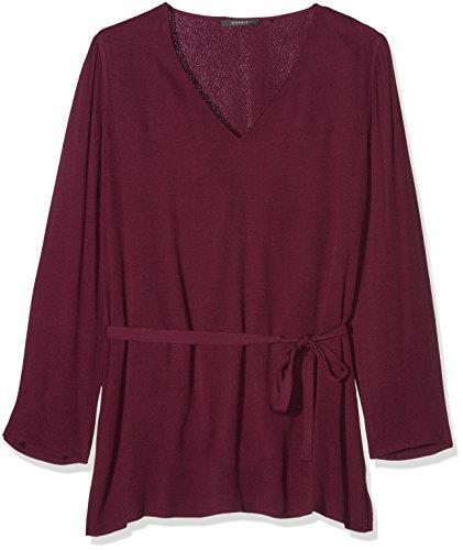 ESPRIT 106eo1f005, Camicia Donna, Rosso (Bordeaux Red), 44